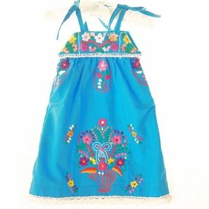 Mexican embroidered baby dress straps